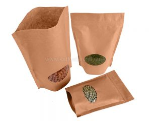 Kraft Brown Paper Bag Ovales Fenster